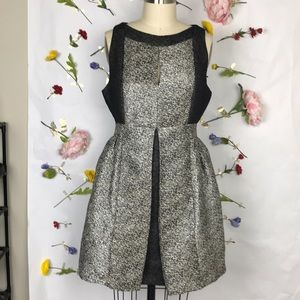 EUC Aryn K. Metallic jacquard dress
